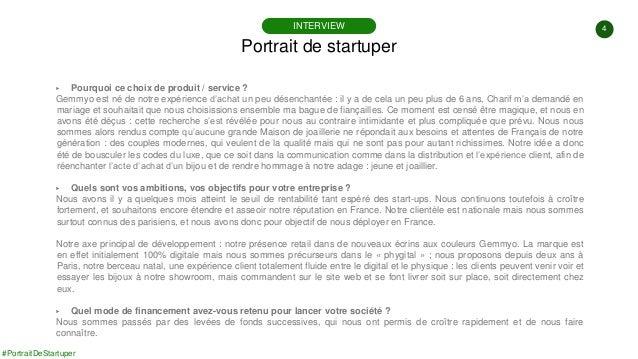 4 #PortraitDeStartuper ▶ Pourquoi ce choix de produit / service ? Gemmyo est né de notre expérience d'achat un peu désench...