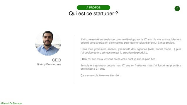 #PortraitDeStartuper #77 - Liita - Jérémy Benmoussa Slide 2