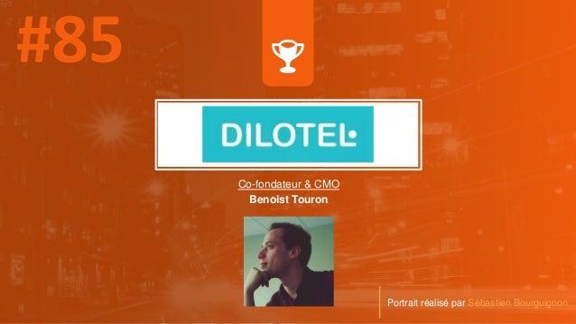 Co-fondateur & CMO Benoist Touron Portrait réalisé par Sébastien Bourguignon
