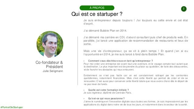 #PortraitDeStartuper #90 - Bubble Plan - Julien Seligmann Slide 2