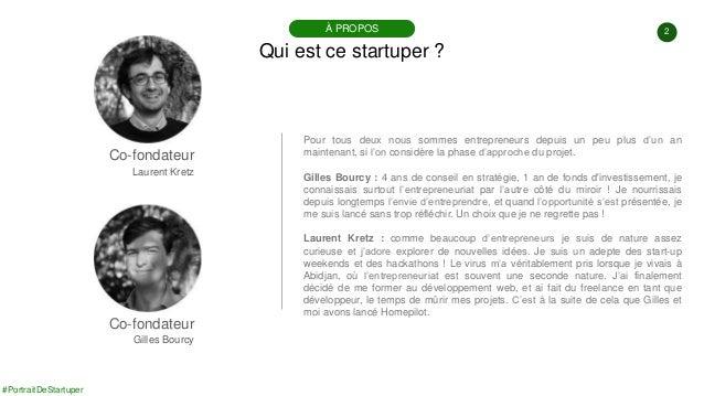 #PortraitDeStartuper #91 - Homepilot - Julien Kretz & Gilles Bourcy Slide 2