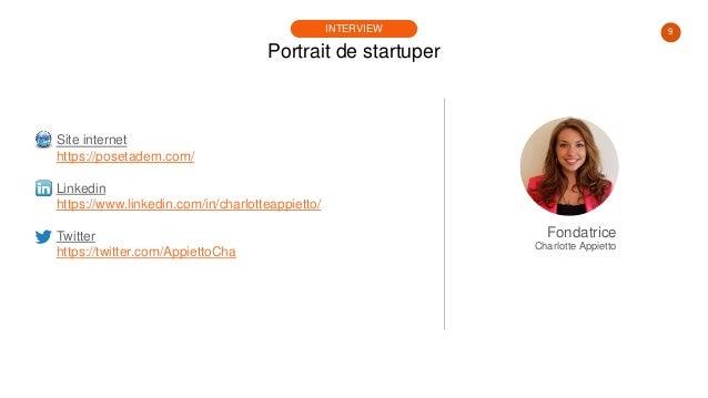 9 Portrait de startuper INTERVIEW Site internet https://posetadem.com/ Linkedin https://www.linkedin.com/in/charlotteappie...