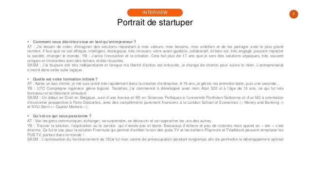 #PortraitDeStartuper #96 - Yamine Bena - Allel Teffahi - Sophie-Aurore de Saint-Marcq - Teampus Slide 3