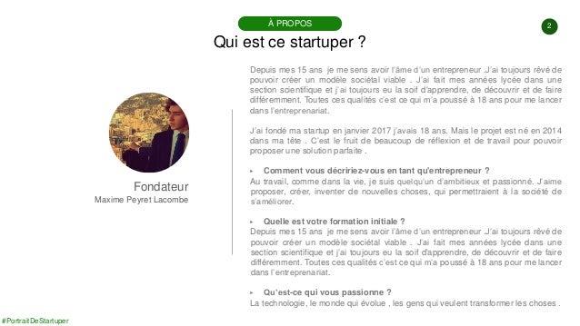 #PortraitDeStartuper #98 - ParlonsPo - Maxime Peyret Lacombe Slide 2