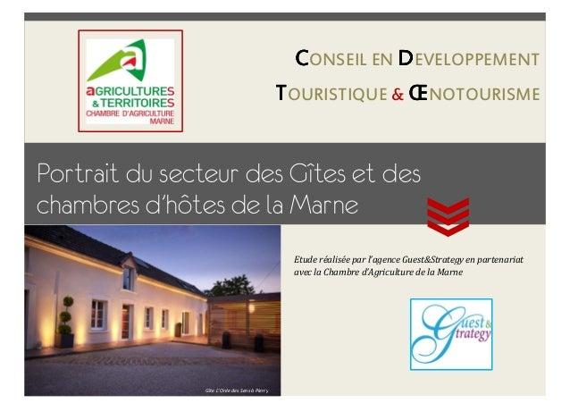 Portrait du secteur des Gîtes et des chambres d'hôtes de la Marne. Chambre d'Agriculture de la Marne/Agence Guest&Strategy...