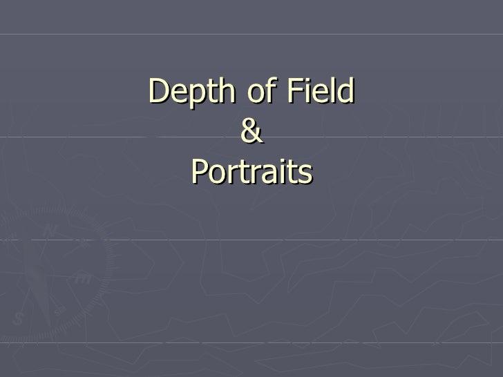 Depth of Field & Portraits
