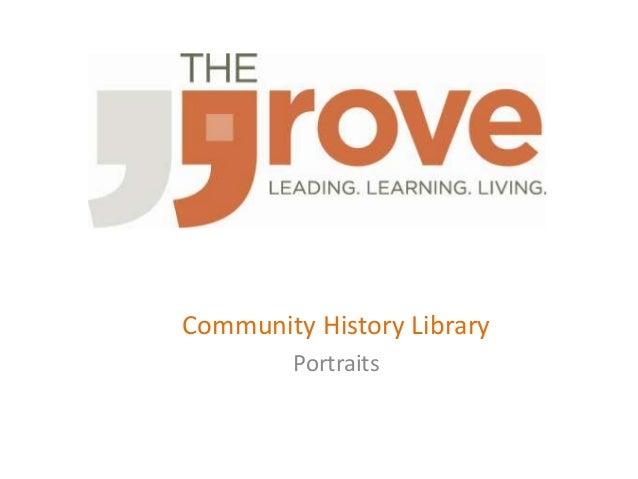 Community History Library  Portraits