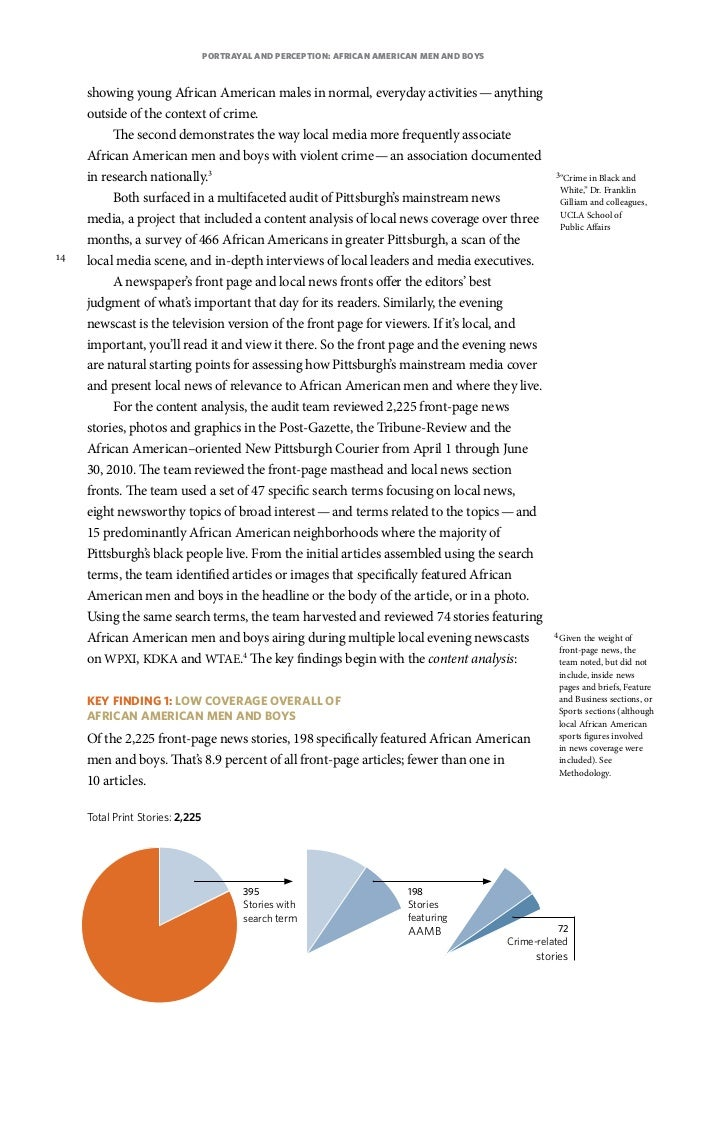 Perception of the african american males 2 essay