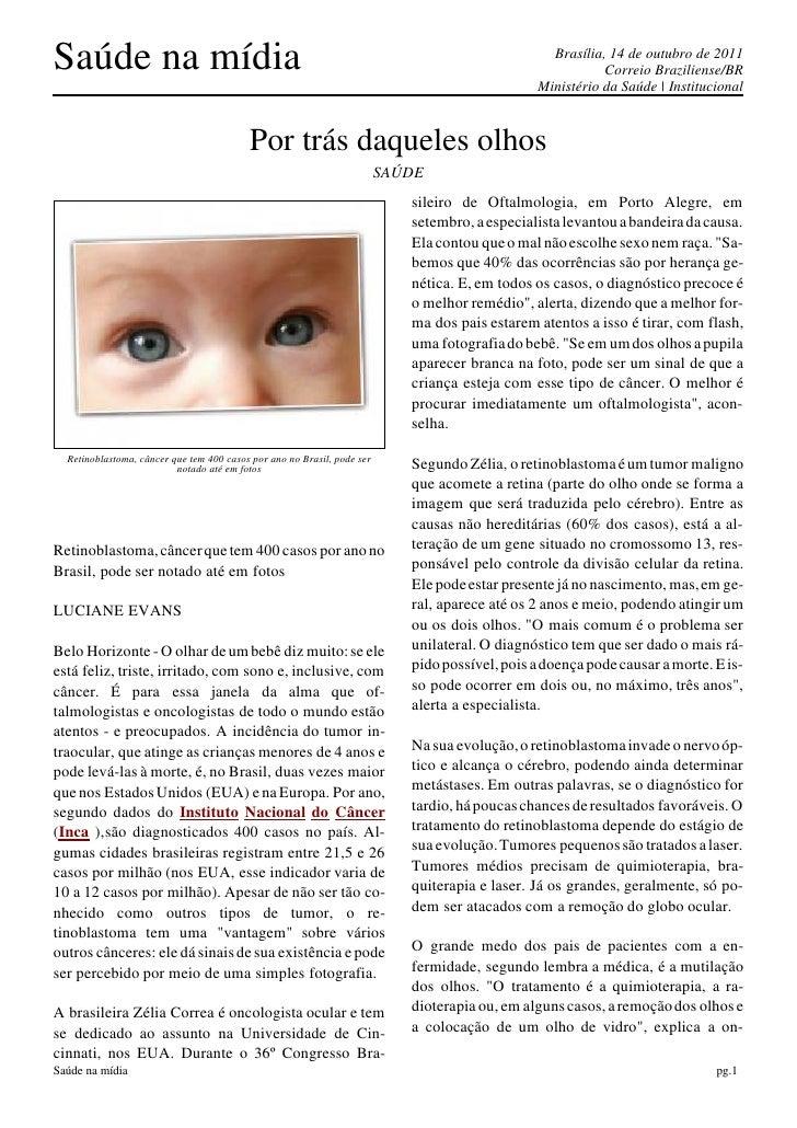 Saúde na mídia                                                                                    Brasília, 14 de outubro ...
