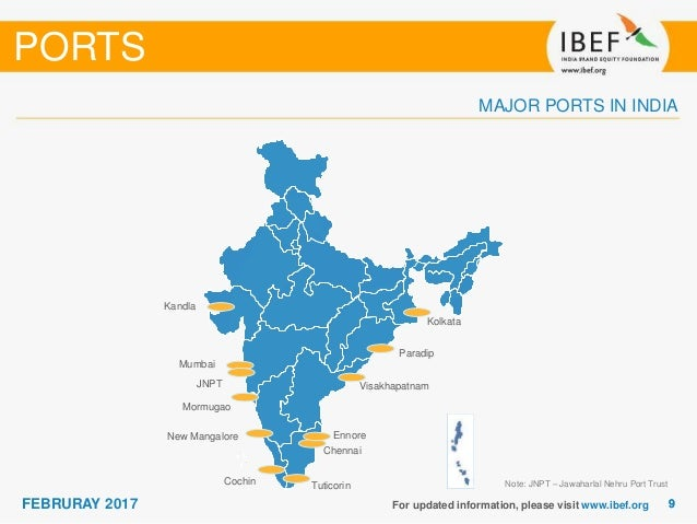 sea port in india There are hundreds of small and major seaports indian coastline and presently there are 13 major ports in india which maintained by the government and private organizations.