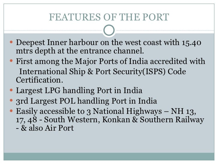 deepest port in india