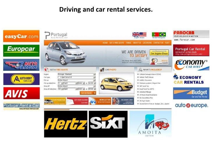 Driving and car rental services.