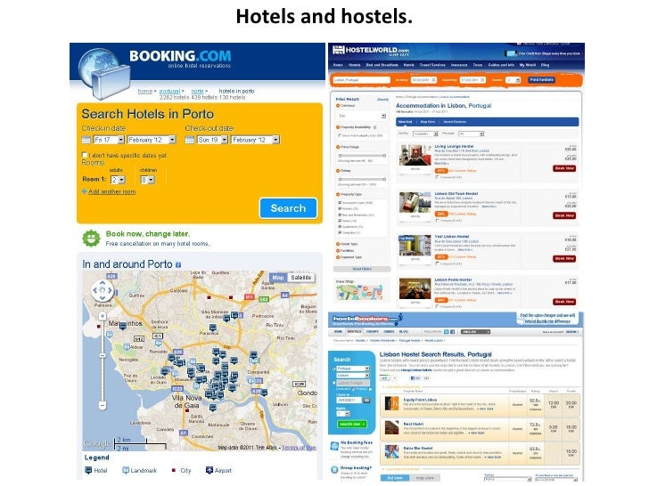 Hotels and hostels.