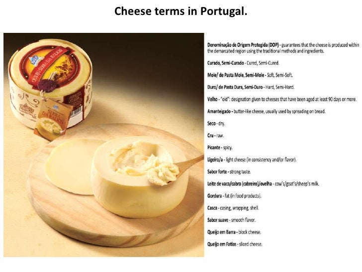 Cheese terms in Portugal.