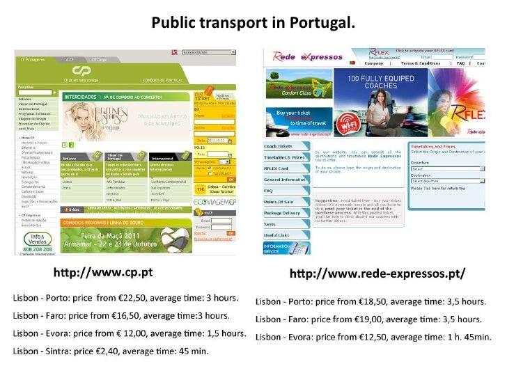 Public transport in Portugal.
