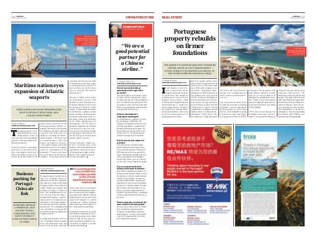 06  PORTUGAL infarrstuctuer  REAL ESTATE business report  business report  07 PORTUGAL  Maritime nation eyes  expansion of...