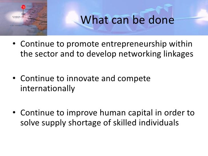 Renewed                    incentives/commitment • ICT sector should be regarded as strategic as the   renewable energies ...
