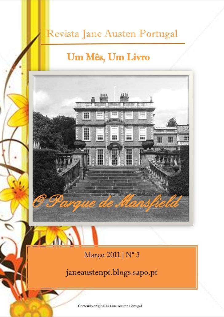Revista Jane Austen Portugal     Um Mês, Um LivroO Parque de Mansfield           Março 2011 | Nº 3     janeaustenpt.blogs....