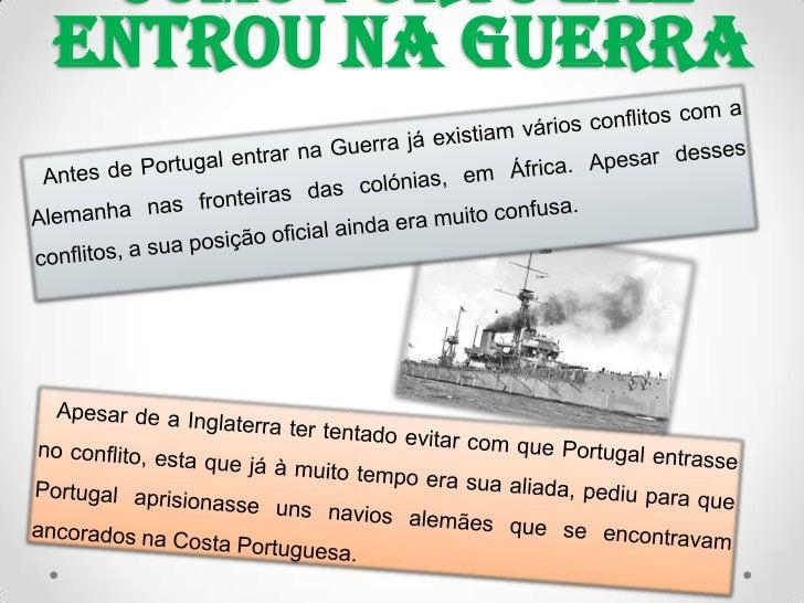 Portugal na I guerra mundial Slide 2