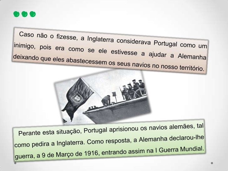 Portugal na I guerra mundial Slide 3