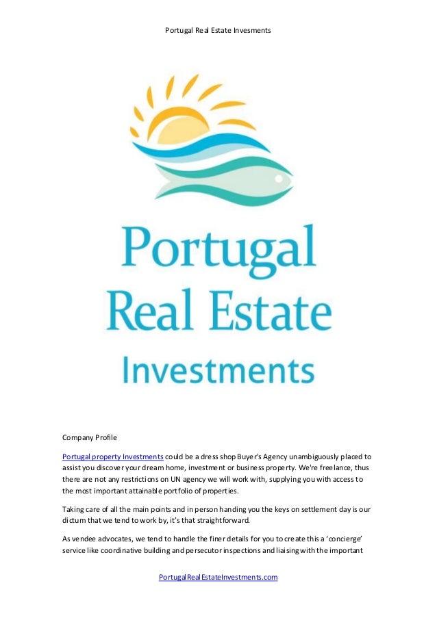 Portugal real estate investments presentation