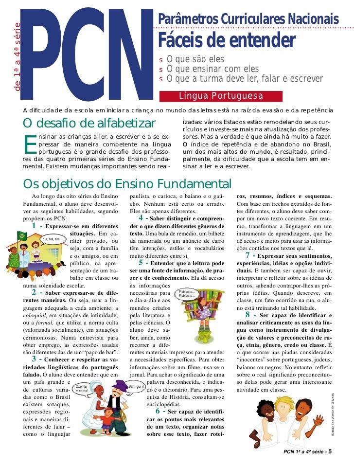 PCN de 1ª a 4ª série                                                               Parâmetros Curriculares Nacionais      ...