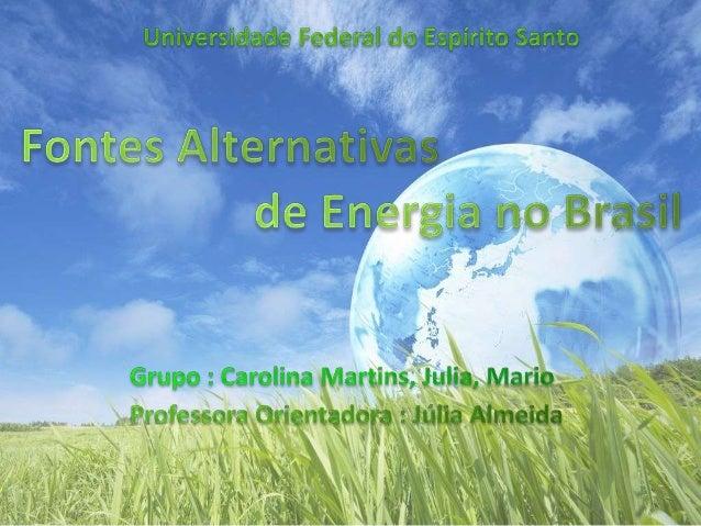 1. INTRODUÇÃO Desde as últimas décadas a questão energética vem ganhando espaço nas áreas de pesquisa devido à urgência do...