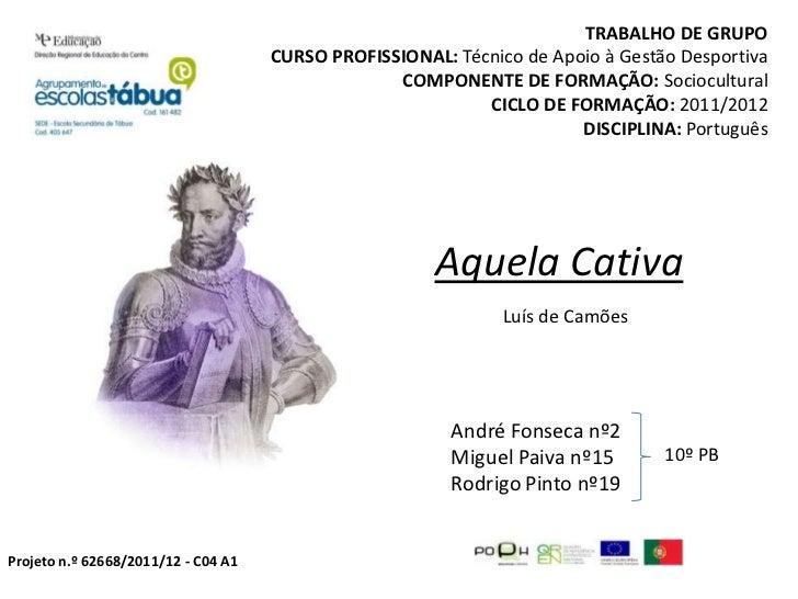 TRABALHO DE GRUPO                                     CURSO PROFISSIONAL: Técnico de Apoio à Gestão Desportiva            ...