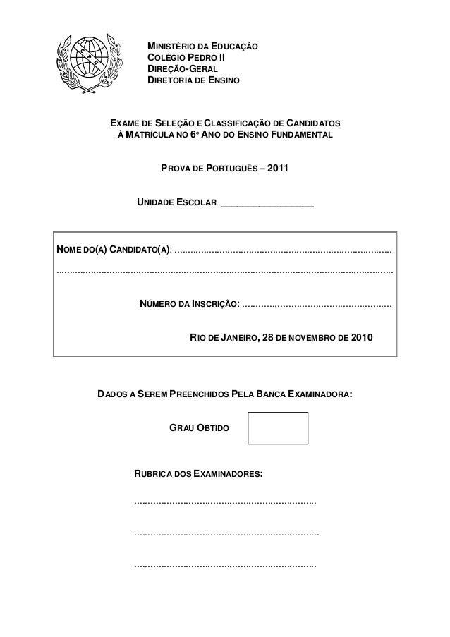MINISTÉRIO DA EDUCAÇÃO                                  COLÉGIO PEDRO II                                  DIREÇÃO-GERAL   ...