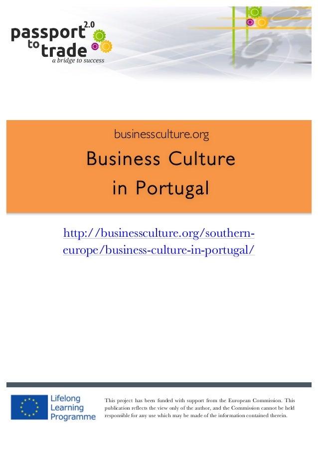 |  1        businessculture.org  Business Culture in Portugal     http://businessculture.org/...