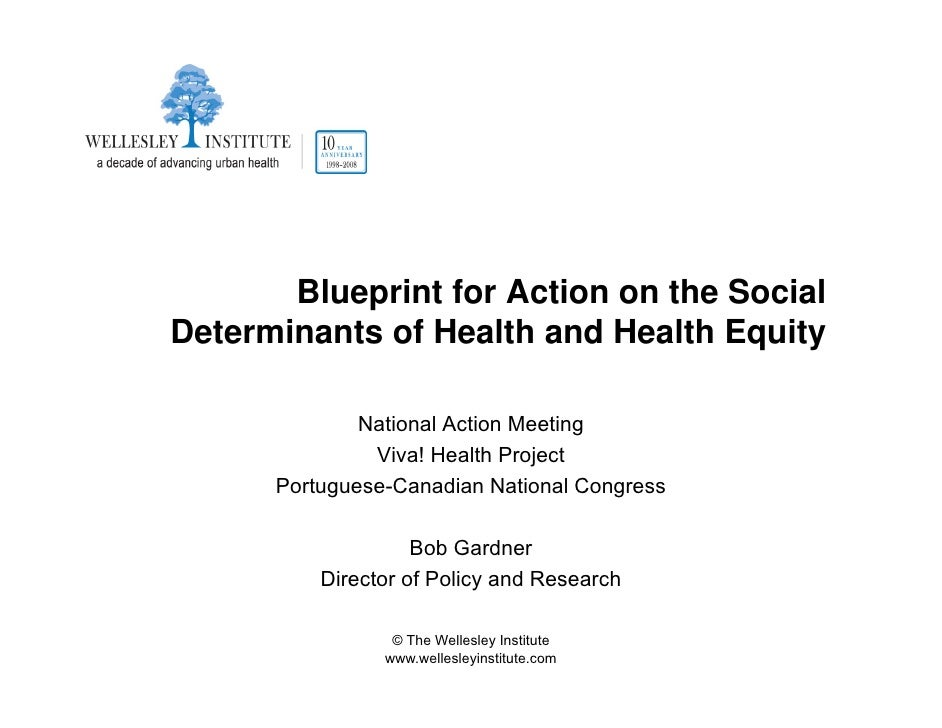 Blueprint for Action on the Social Determinants of Health and Health Equity                National Action Meeting        ...