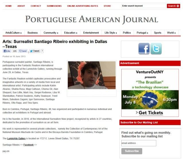 Portuguese american journal santiago ribeiro