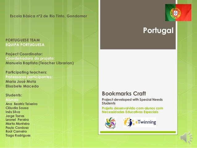 Bookmarks Craft  Project developed with Special Needs  Students  Projeto desenvolvido com alunos com  Necessidades Educati...