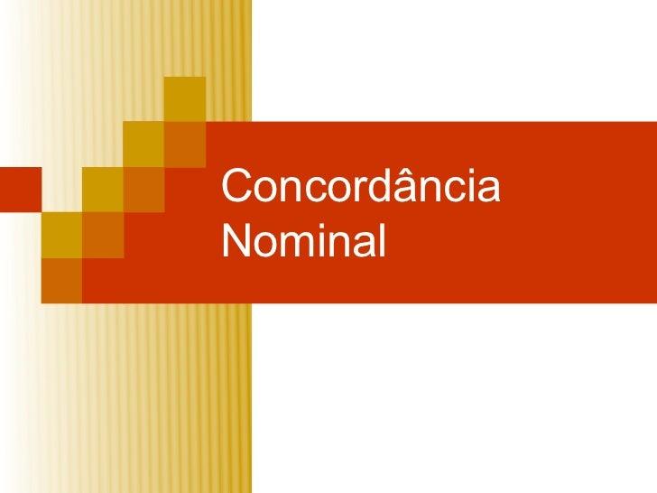 ConcordânciaNominal