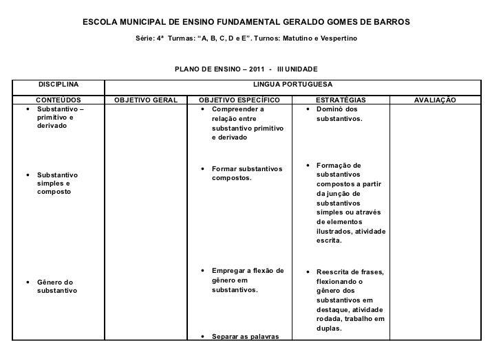 """ESCOLA MUNICIPAL DE ENSINO FUNDAMENTAL GERALDO GOMES DE BARROS                            Série: 4ª Turmas: """"A, B, C, D e ..."""