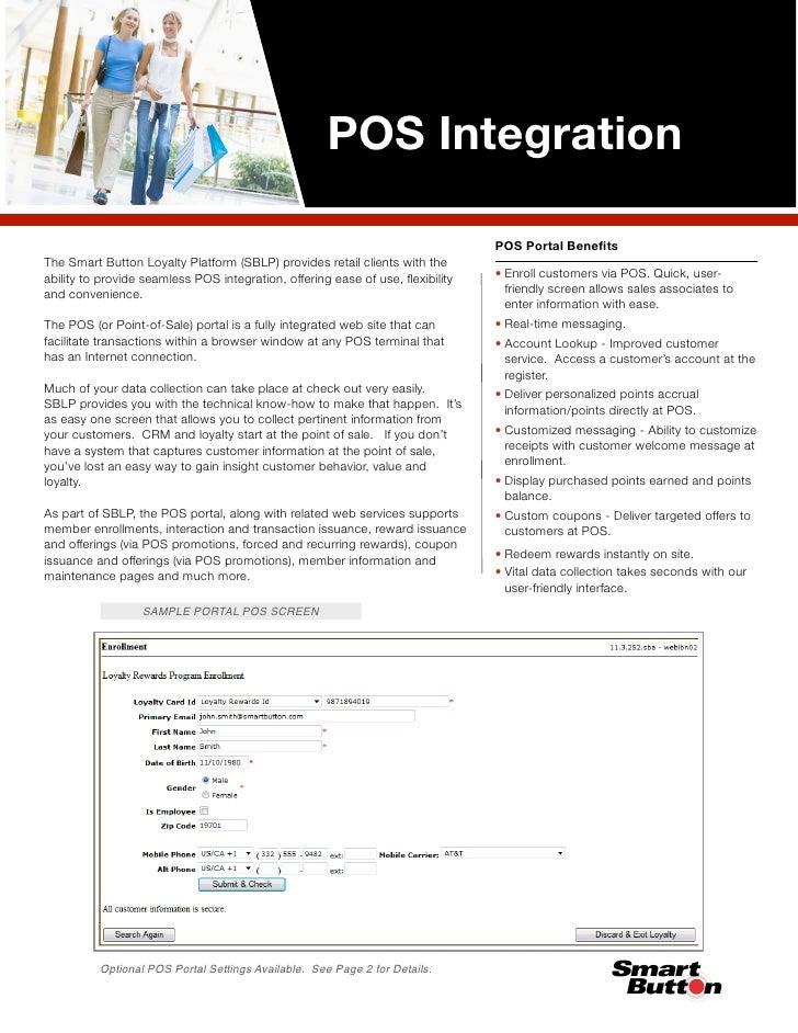 POS Integration                                                                                POS Portal BenefitsThe Smart...