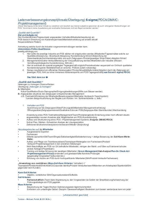 Torsten – Michael, Palnik (B.CCI /B.Sc.) [urheberrechtlich geschützt]   Ladenverbesserungskonzept(Ansatz/Überlegung) 6-...