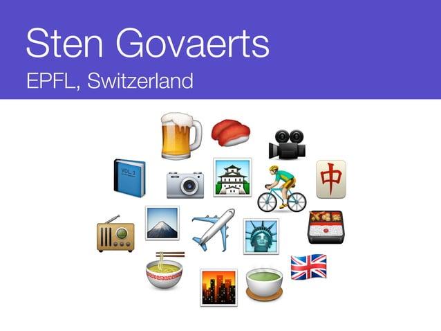 Sten Govaerts  EPFL, Switzerland        ✈️    )    ️          