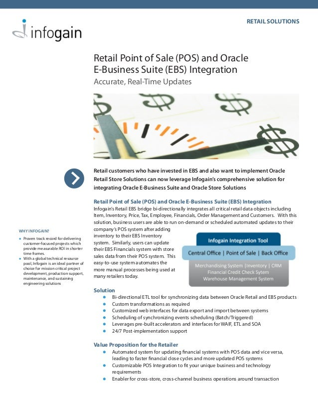 RETAIL SOLUTIONS                                          Retail Point of Sale (POS) and Oracle                           ...