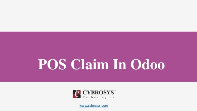 www.cybrosys.com POS Claim In Odoo
