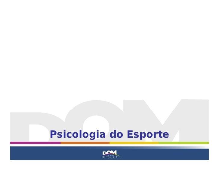 Psicologia do Esporte