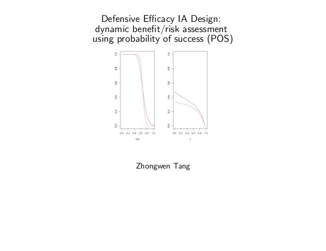 Defensive E¢ cacy IA Design: dynamic bene…t/risk assessment using probability of success (POS) Zhongwen Tang