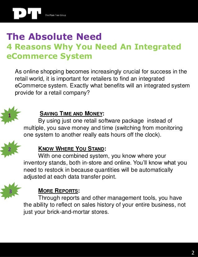 The Absolute Need  4 Reasons Why You Need An Integrated eCommerce System As online shopping becomes increasingly crucial f...