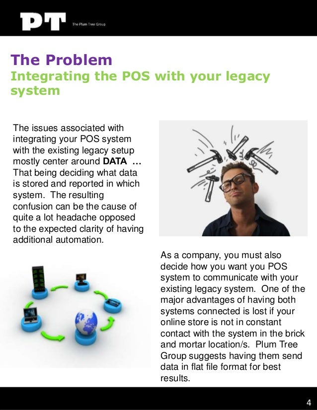 The Problem  Integrating the POS with your legacy system The issues associated with integrating your POS system with the e...