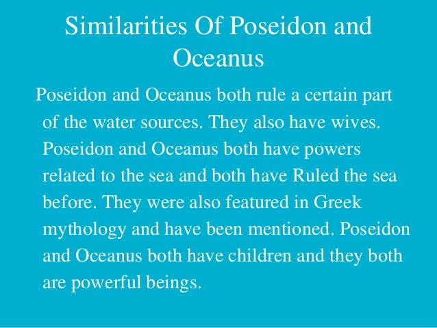 oceanus essay Ebscohost serves thousands of libraries with premium essays, articles and other content including the mouth of truth and the forum boarium: oceanus, hercules, and hadrian.