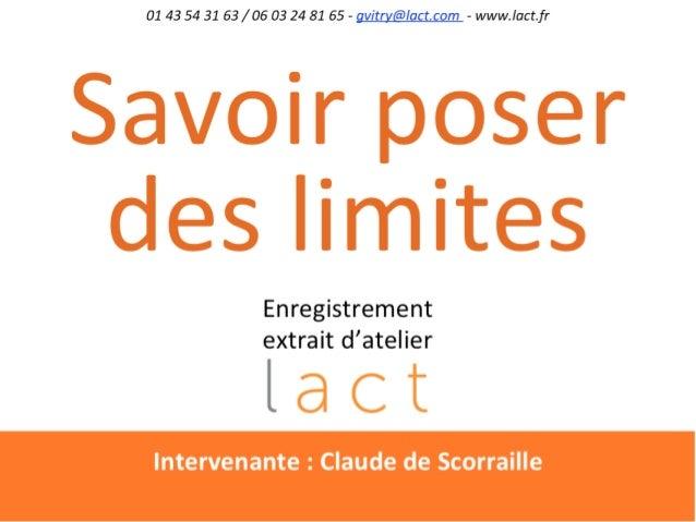 Claude de ScorrailleCoach, consultante et psychotérapeuteformée à l'IGB,diplômée de psychologie clinique du travail(CNAM, ...