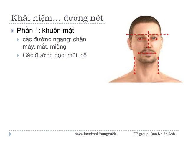 Khái niệm… đường nét   Phần 1: khuôn mặt    các đường ngang: chân mày, mắt, miệng Các đường dọc: mũi, cổ  www.facebook/...