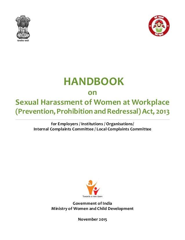 Handbook on Sexual Harassment Act