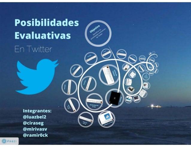 Posibilidades evaluativas en Twitter