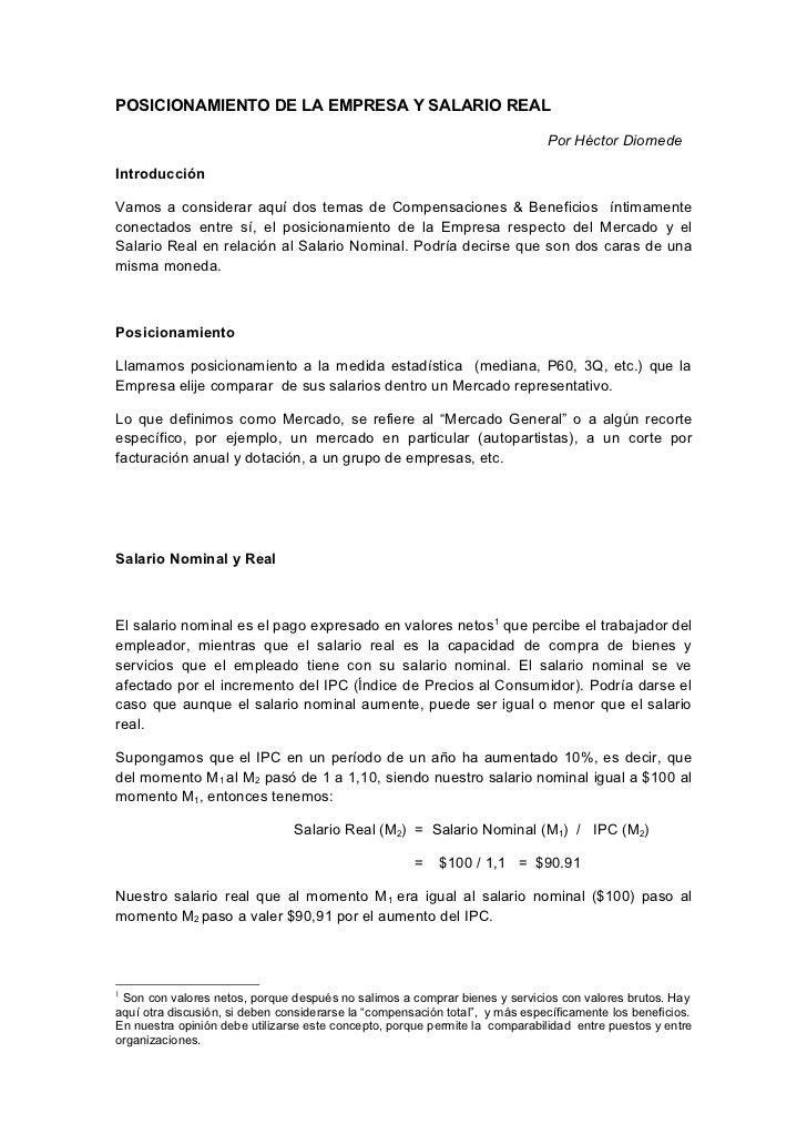 POSICIONAMIENTO DE LA EMPRESA Y SALARIO REAL                                                                              ...